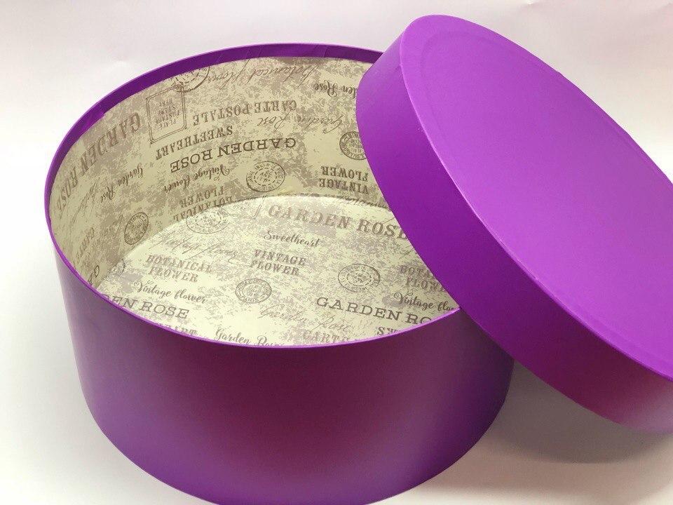 Короткая коробка D 32 см . Цвет: Фиолетовый   . Розница 450 рублей .