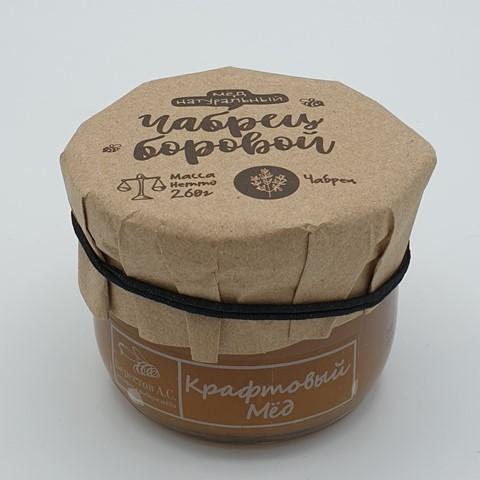 Мёд натуральный крафтовый Чабрец боровой БЕРЕСТОВ А.С., 260 гр