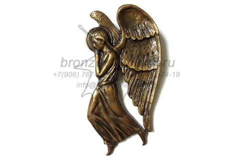 Бронзовый Ангелок на памятник, 20см