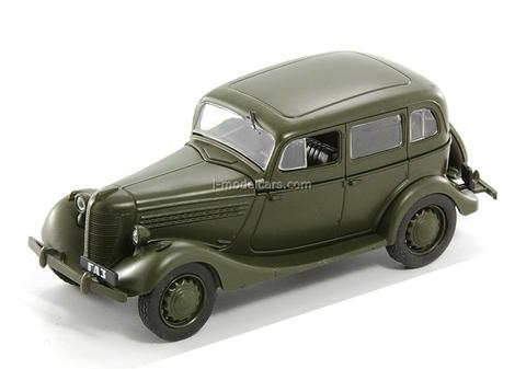 GAZ-11-73 khaki 1:43 DeAgostini Auto Legends USSR #19