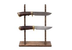 Стойка из дуба для 5 ножей высокая