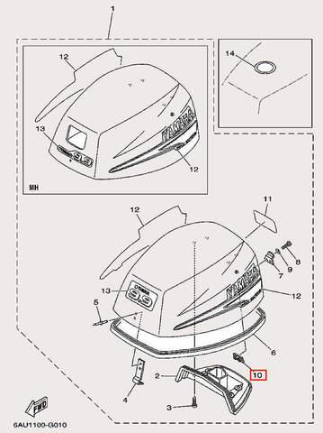 Держатель для лодочного мотора F9,9 Sea-PRO (1-10)