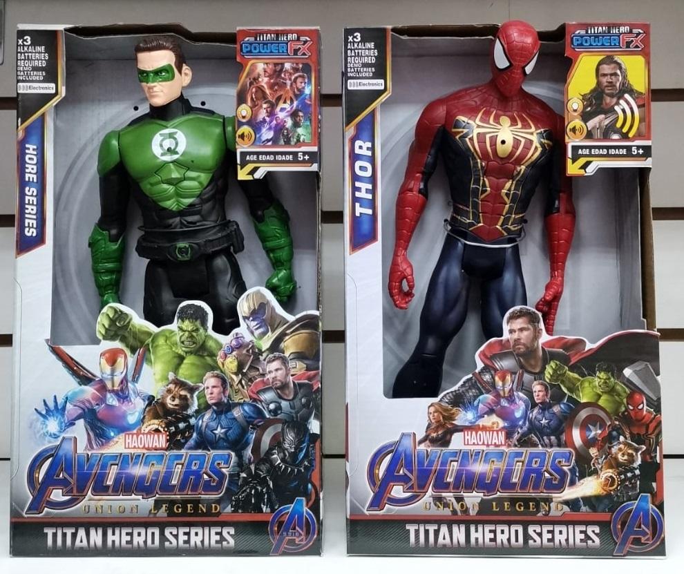 Зеленый фонарь и Человек паук 30 см