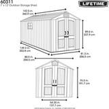 Пластиковый сарай LifeTime 7x12 фута