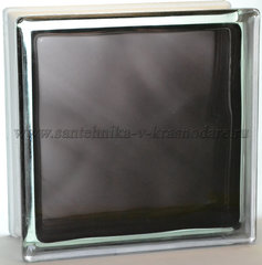 Стеклоблок чёрный волна окрашенный изнутри  Vitrablok  19x19x8