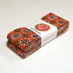 ЛЕНТА ДЛЯ ЛОСКУТНОГО ШИТЬЯ оранжевые монетки