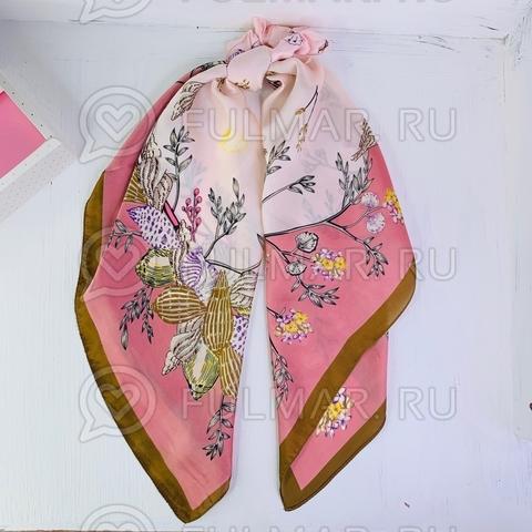 Платок с резинкой модный аксессуар для волос Ракушки (цвет: розовый)