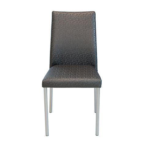 Стул ЛОТИ Е-19 Черный с вензелями / исполнение 1 / ножки хром
