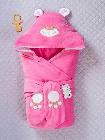 Зимний конверт-одеяло Little Bear розовый