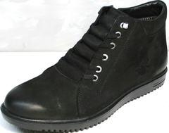 Стильные ботинки зимние мужские Luciano Bellini 71783 Black.