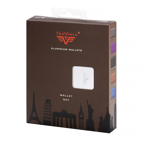 Кошелек-органайзер c защитой Tru Virtu Ray, темно-серый , 130x102x23 мм