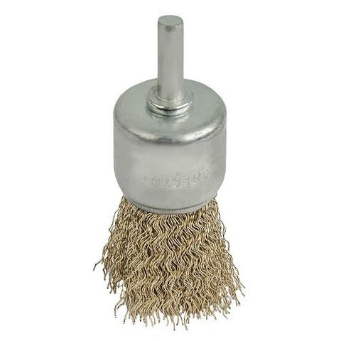 Кордщетка для дрели кистеобразная мягкая ПРАКТИКА 30 мм, хвост 6 мм (773-446)