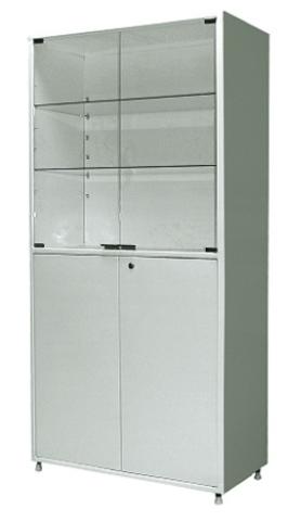 Шкаф металлический двухсекционный двухдверный МСК - 647.02 - фото