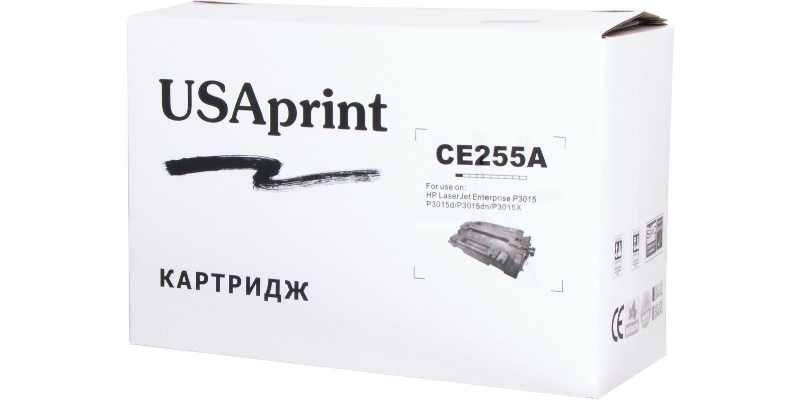 USAprint №55A CE255A/(Cartridge 724), черный, для HP/Canon, до 6000 стр