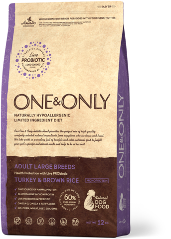 Сухой корм One&Only Turkey & Brown Rice Adult Large Breeds