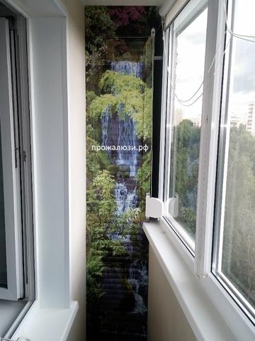 Рольставни 25 х 160 на балкон с картинкой