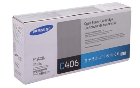 Картридж Samsung CLT-C406S (ST986A) голубой