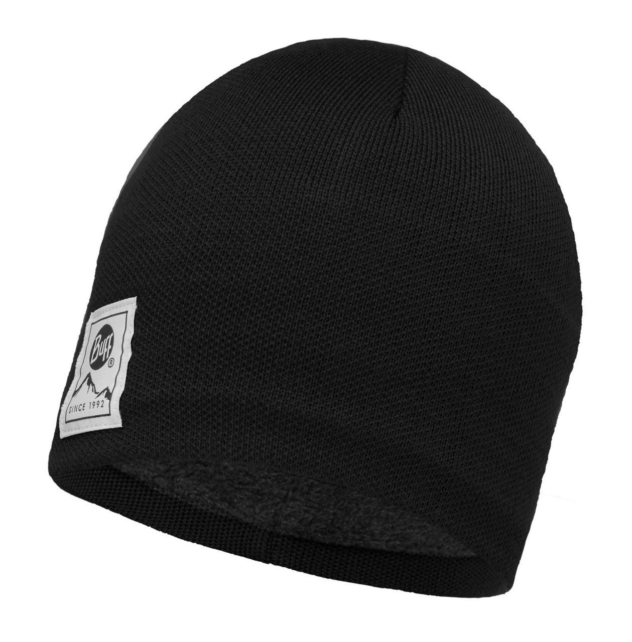 Шапки средней вязки Вязаная шапка с флисовой подкладкой Buff Solid Black 113519.999.10.00.jpg