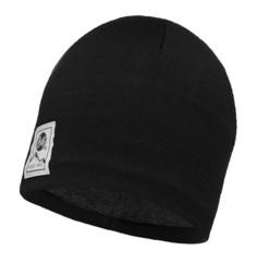 Вязаная шапка с флисовой подкладкой Buff Solid Black