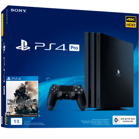Sony PlayStation 4 Pro Black 1Tб + диск NieR: Automata GOTY