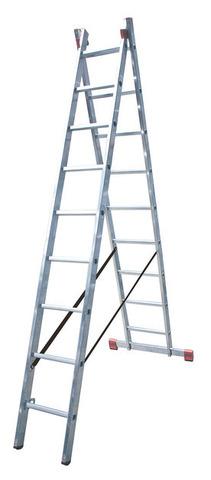 DUBILO Универс. лестница, их двух частей, 2 х 9 перекладин