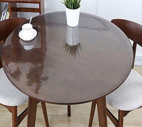 Скатерть круглая прозрачная  120 см. 1 мм.