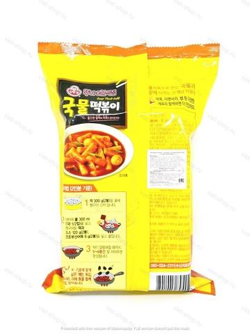 Рисовые клецки (топокки) с острым бульоном Оттоги (Ottogi) Soup Tteok-bokki, 426 г.