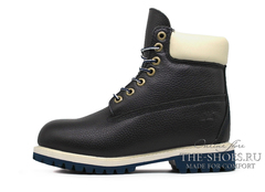 Ботинки Женские Timberland 17061 Waterproof Navy Leather С Мехом