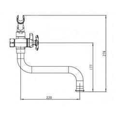 Смеситель KAISER Carlson Lux 11255 для ванны схема