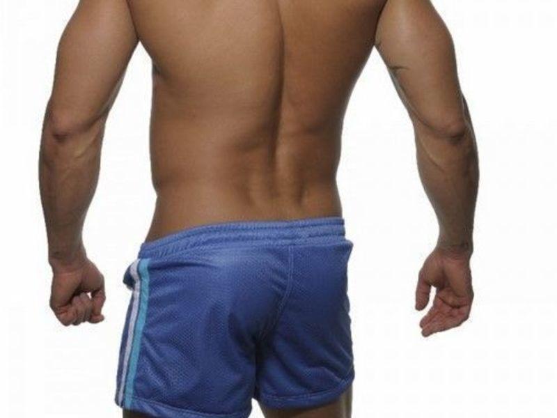 Мужские шорты голубые в сетку Addicted Sport Shorts Blue