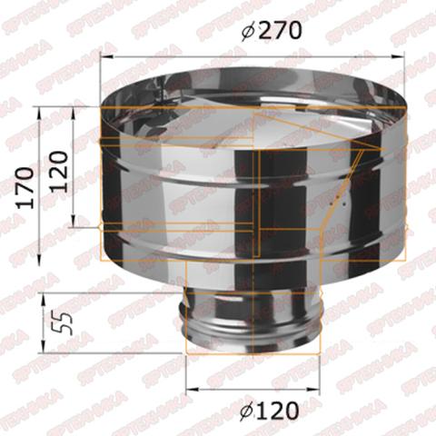 Дефлектор d120мм (430/0,5мм) Ferrum