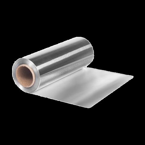 Фольга 18 мкр 12 см х 25 м серебро