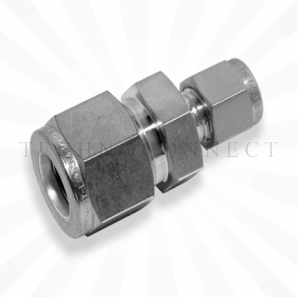 CUR-3M-2  Переходник: метрическая трубка  3 мм - дюймовая трубка  1/8