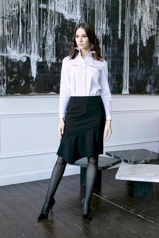 Фото прямая юбка с асимметричной передней частью - Юбка Б146-168 (1)