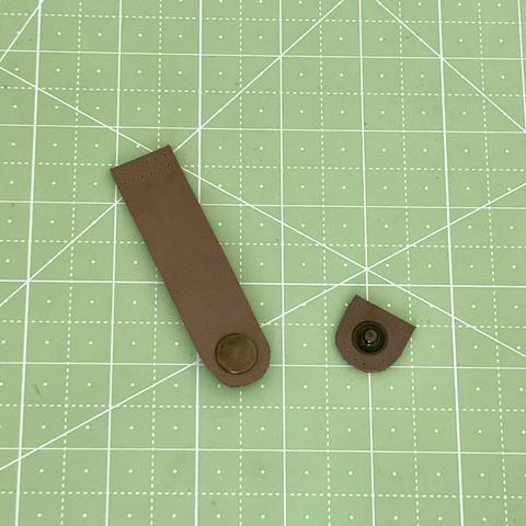 Ремешок для кошелька на кнопке 8 см. (Цвет камня)