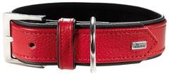 Ошейник для собак Hunter Capri  55 (42-48 см) натуральная кожа красный/черный