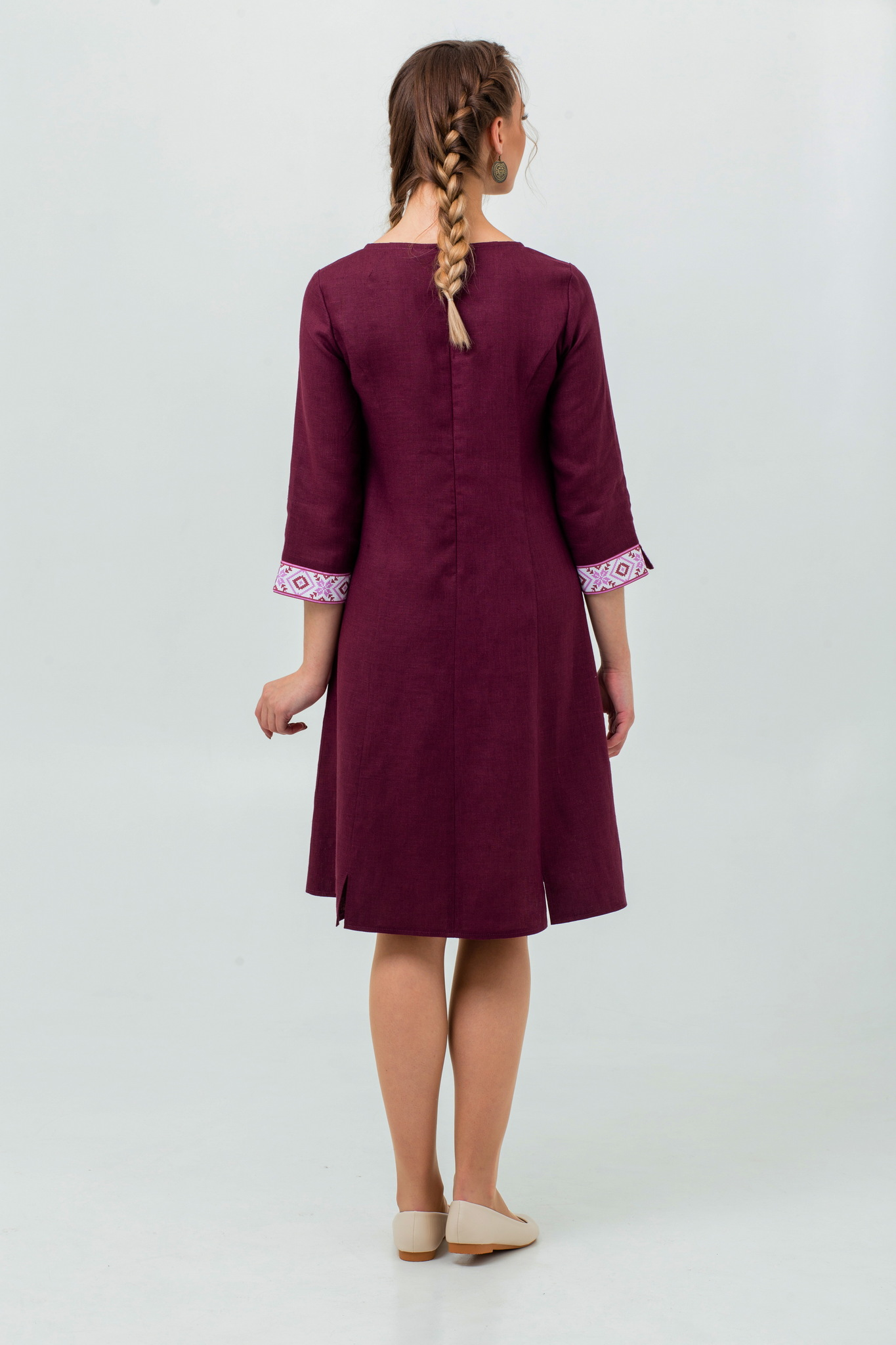 Платье славянское Сочный виноград