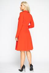 <p><span>Отличное платье для романтической дамы! Отложной воротничок. Юбка клёш, с имитацией пояса.&nbsp;Рукав длинный. Отличный вариант для торжества. (Длина: 46-98см; 48-99см; 50-100см; 52-101см)</span></p>