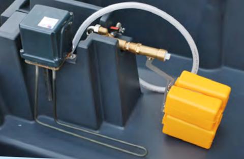 Погружной нагреватель с термостатом 300 Вт, 24 В