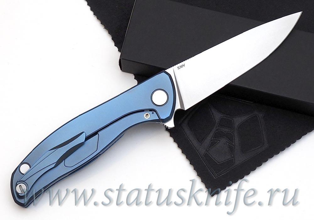 Нож Широгоров Флиппер 95 S30V синее анодирование - фотография
