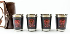 Подарочный набор стопок в чехле СССР, фото 7