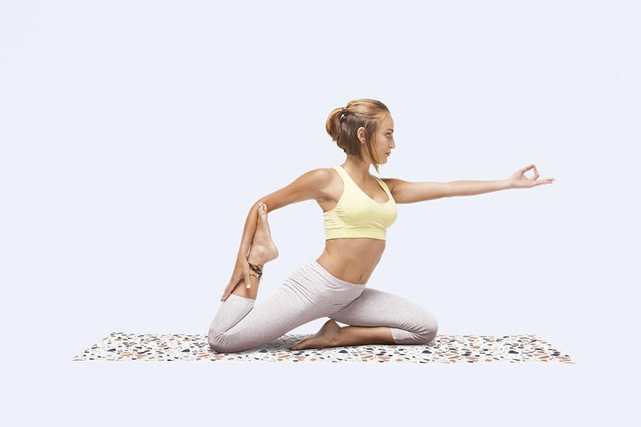 Коврик для йоги Terazzo Yoga белый Doiy DYYOGAMTW | Купить в Москве, СПб и с доставкой по всей России | Интернет магазин www.Kitchen-Devices.ru