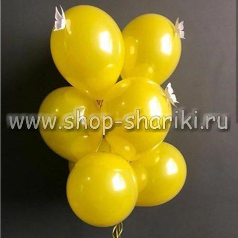 Желтые стеклянные шары