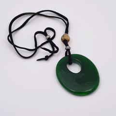 Кулон Ovale зелёный