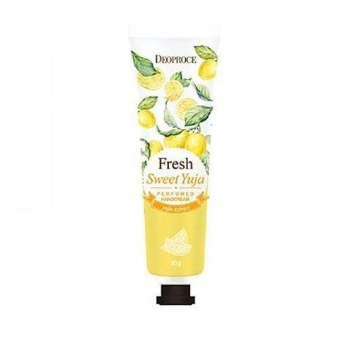Крем для рук парфюмированный с экстрактом цитрона Fresh Sweet Yuja Perfumed Hand Cream Deoproce, 30 мл