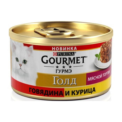 Gourmet Gold Консервы для кошек Мясной тортик с говядиной и курицей