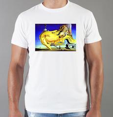 Футболка с принтом  Сальвадор Дали  (Salvador Dalí) белая 008