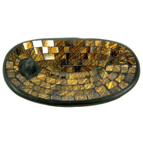 Подставка под благовония Gold, 13*21 см, керамика/стекло