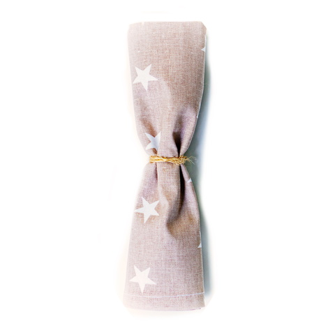 Салфетка 45*45 (маленькая) коричневая со звездами