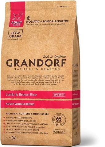 Grandorf Dog Medium Breeds сухой корм для собак средних пород (ягнёнок с рисом) 12кг